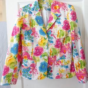 Sag Harbor Floral Blazer Women's Size 10